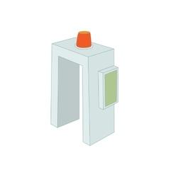 Metal detector icon cartoon style vector