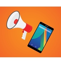 mobile marketer promotion with smartphone and vector image
