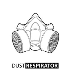 outline multi-purpose respirator vector image