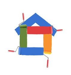 painting the symbol of home vector image vector image
