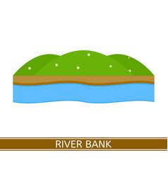 River bank vector