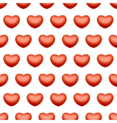 Seamless heart love background vector image
