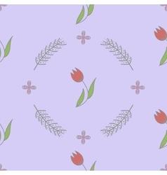 Seamless spring flower background pattern vector