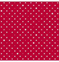 Strawberry Red White Star Polka Dots Background vector image
