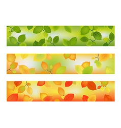 Three Season Banners or Backgrounds vector image vector image