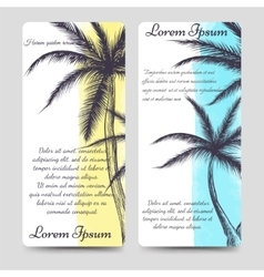 Brochure flyers template with palm tree vector image