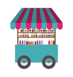 Drinks cart icon vector