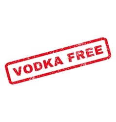 Vodka free rubber stamp vector