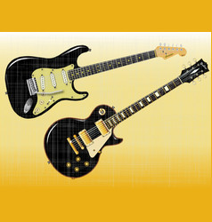 guitar giants vector image