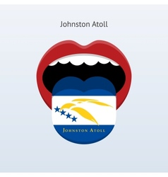 Johnston atoll language abstract human tongue vector
