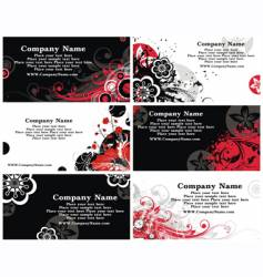 collection of horizontal business cards vector image