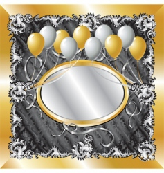 Gold amp silver balloon background vector