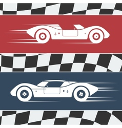 Two race cars vector