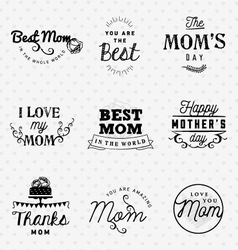 Mom greeting card design elements vector