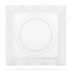 Condom in white package vector
