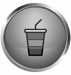 Icon ice drinks vector