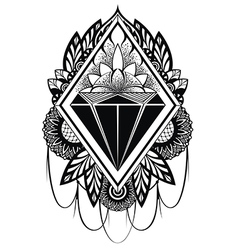 Diamond tattoo vector