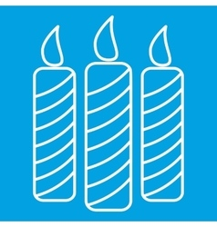 Candles thin line icon vector