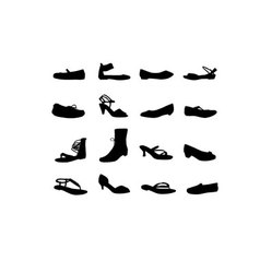 Women casual shoes silhouettes vector