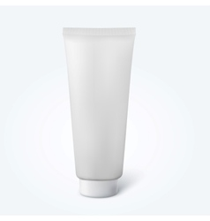 Blank thin cosmetic tube vector