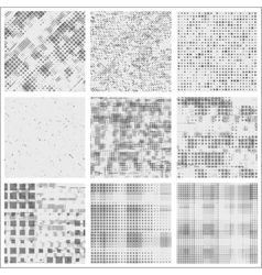 Set of halftone abstract forms vector