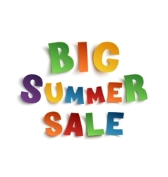 Big summer sale hand drawn typeface vector
