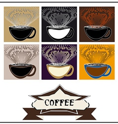 Abstract background coffee vector image