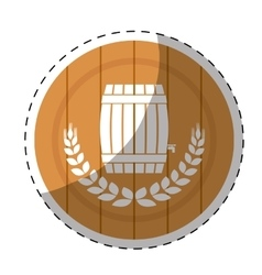 Beer related emblem icon image vector