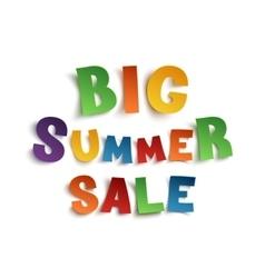 Big summer sale hand drawn typeface vector image