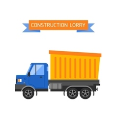 Building under construction tripper truck machine vector