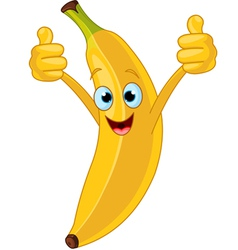 Cartoon banana character vector