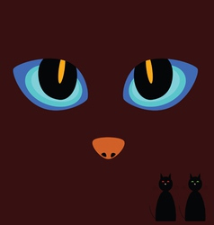 cat eye on a dark background vector image vector image