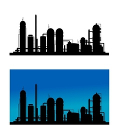 Chemical or refinery plant vector image vector image