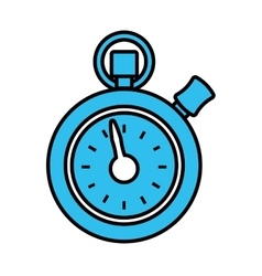 chronometer counter isolated icon vector image