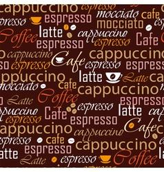 Coffee name seamless vector