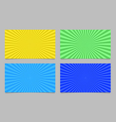 Colored abstract ray burst card background vector