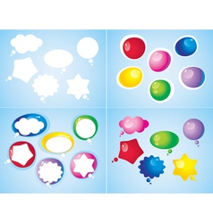 colorful glossy icons vector image vector image