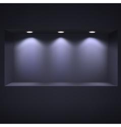 Dark niche for presentations vector
