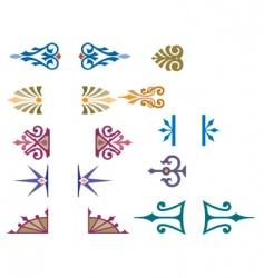 decorative script vector image