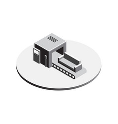 factory conveyor system isometric vector image