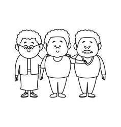 family cartoon concept represented by grandparents vector image