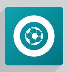 flat football ball icon vector image