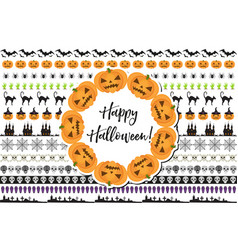 halloween set of holiday borders decorations vector image vector image