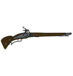Historical flintlock rifle vector