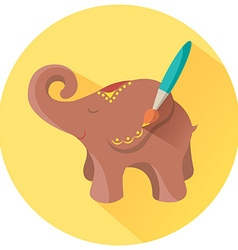 Icon for hand made elephant vector