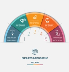 Infographic on five positions vector