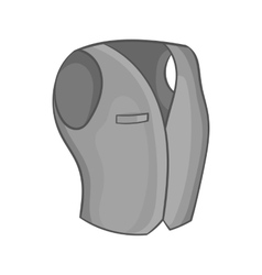Mens classic vest icon black monochrome style vector image