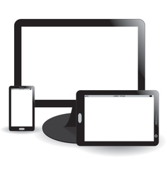 Mobile phone display and tablet vector image
