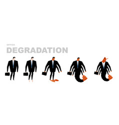 office degradation manager turns into office vector image vector image