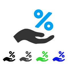 Percent offer hand flat icon vector